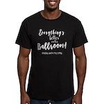 Better in the Ballroom Men's Fitted T-Shirt (dark)