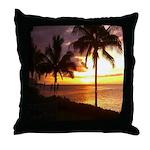 Hawaii sunset beaches Throw Pillow