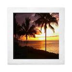 Hawaii sunset beaches Queen Duvet