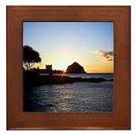 Hawaiian sunset scenes Framed Tile