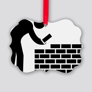 Bricklayer-AAA1 Picture Ornament