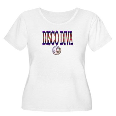 Disco Diva Women's Plus Size Scoop Neck T-Shirt