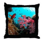 tropical hawaiian reef fish Throw Pillow