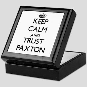 Keep Calm and TRUST Paxton Keepsake Box