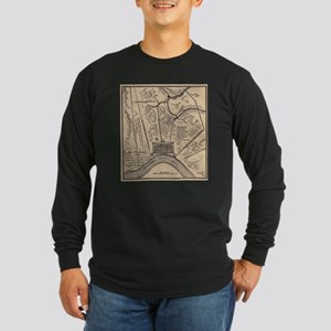 Vintage Map of New Orleans Lou Long Sleeve T-Shirt