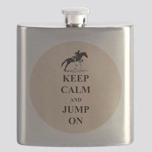 Keep Calm and Jump On Horse Flask