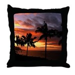 hawaiian sunset by the sea Throw Pillow