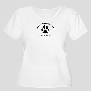 Adopt a Pet Women's Plus Size Scoop Neck T-Shirt