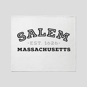 Salem Massachusetts Throw Blanket