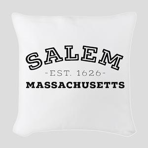 Salem Massachusetts Woven Throw Pillow