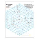 20 Light Year Hexagon Star Map - Small