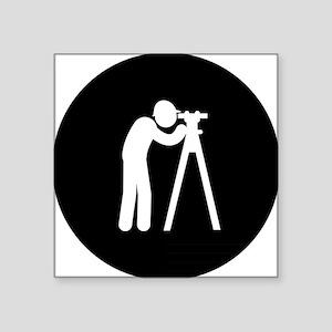"Land-Surveyor-AAB1 Square Sticker 3"" x 3"""