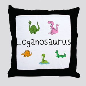 Loganosaurus Throw Pillow