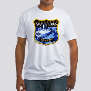 USS SILVERSIDES Fitted T-Shirt