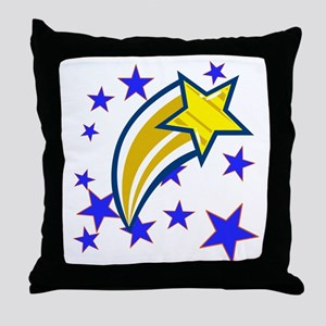 i just saw a shooting star! Throw Pillow