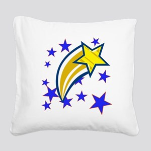 i just saw a shooting star! Square Canvas Pillow