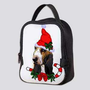 Basset Hound Christmas Neoprene Lunch Bag