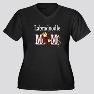 Labradoodle Gifts Women's Plus Size V-Neck Dark T-