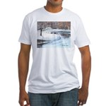 Snowy Road by Elsie Batzell Fitted T-Shirt