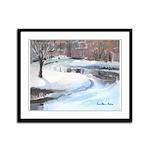 Snowy Road by Elsie Batzell Framed Panel Print