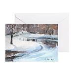 Snowy Road by Elsie Batzell Greeting Cards (Packag
