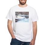 Snowy Road by Elsie Batzell White T-Shirt