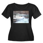 Snowy Road by Elsie Batzell Women's Plus Size Scoo