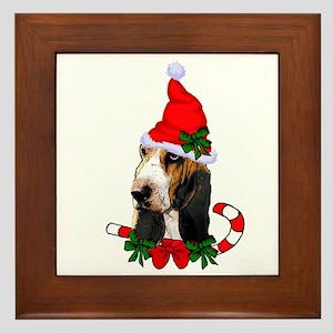 Basset Hound Christmas Framed Tile