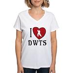 I Heart DWTS Women's V-Neck T-Shirt