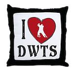 I Heart Dwts Throw Pillow