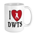 I Heart DWTS 15 oz Ceramic Large Mug