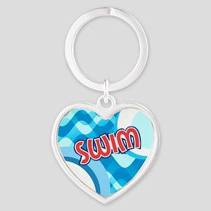 SWIM Heart Heart Keychain