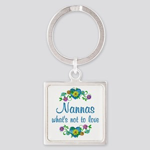 Nannas to Love Square Keychain