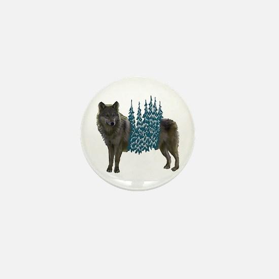 WOLF Mini Button