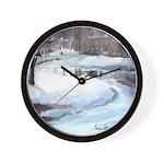 Snowy Road by Elsie Batzell Wall Clock