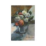 Flowers (#2) by Elsie Batzell Rectangle Magnet (10