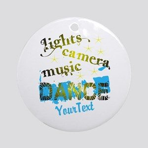 CUSTOMIZE Text Dance Round Ornament