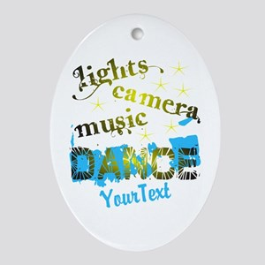 CUSTOMIZE Text Dance Oval Ornament