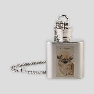 Pekingese Flask Necklace