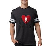 I Heart DWTS Mens Football Shirt