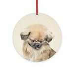 Pekingese Round Ornament