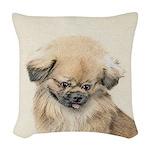 Pekingese Woven Throw Pillow
