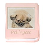 Pekingese baby blanket