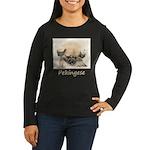Pekingese Women's Long Sleeve Dark T-Shirt