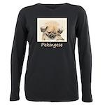 Pekingese Plus Size Long Sleeve Tee