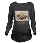 Pekingese Long Sleeve Maternity T-Shirt