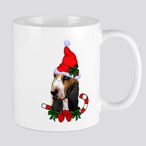 Basset Hound Christmas Mugs