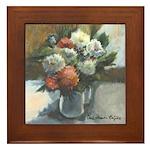 Flowers (#2) by Elsie Batzell Framed Tile