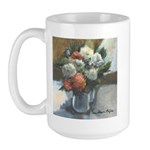 Flowers (#2) by Elsie Batzell Large Mug