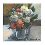 Flowers (#2) by Elsie Batzell Tile Coaster